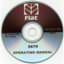 FIAT 5670 BALER OPERATORS MANUAL ON CD