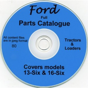 FORD 13-SIX & 16-SIX TRACTOR-LOADER PARTS BOOK ON CD