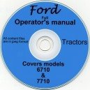 FORD 6710 - 7710 OPERATORS MANUAL ON CD