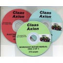 CLAAS AXION FULL SET OF 3 MANUALS ON 3 CD's