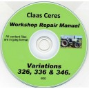 CLAAS CERES 326, 336 & 346 WORKSHOP REPAIR MANUAL ON CD