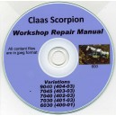 CLAAS SCORPION 9040, 7045, 7040, 7030, 6030 REPAIR MANUAL ON CD