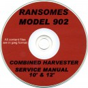 RANSOMES 902 10' & 12' COMBINE SERVICE MANUAL ON CD
