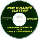 NEW HOLLAND - CLAYSON 1540 & 1550 COMBINE OPERATORS MANUAL ON CD