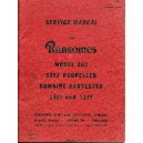 ORIGINAL SERVICE MANUAL FOR RANSOMES SIMS & JEFFRIES 902 HARVESTER
