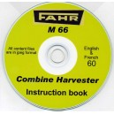 FAHR M 66 COMBINE INSTRUCTION USER MANUAL ON CD
