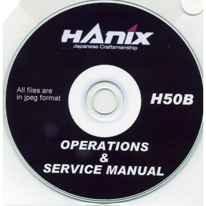 HANIX H50B OPERATIONS & SERVICE MANUAL ON CD