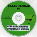 CLAAS JAGUAR 61 OPERATOR'S MANUAL ON CD