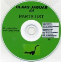 CLAAS JAGUAR 61 PARTS LIST ON CD