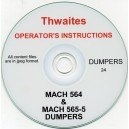 THWAITES MACH 564 & MACH 565-5 DUMPERS OPERATING INSTRUCTIONS ON CD
