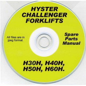 HYSTER CHALLENGER H30H, H40H, H50H, H60H SPARE PARTS MANUAL ON CD
