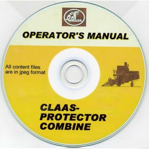 CLAAS PROTECTOR COMBINE OPERATOR'S MANUAL ON CD