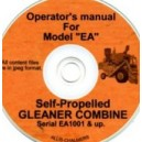 ALLIS CHALMERS EA GLEAMER COMBINE OPERATORS MANUAL ON CD