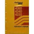 ORIGINAL FIAT TRATTORI 4260, 4240, 4220 OPERATOR'S MANUAL