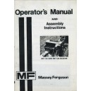 OFFICE COPY MASSEY FERGUSON OPERATOR'S MANUAL & ASSEMBLY INSTRUCTIONS FOR MF 124 & 126 BALERS