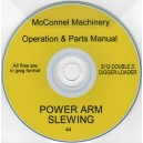 McCONNEL POWER ARM SLEWING OPERATING MANUAL & SPARES LIST ON CD