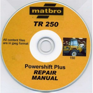 MATBRO TR250 POWERSHIFT PLUS REPAIR MANUAL ON CD