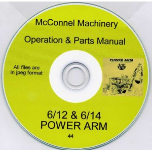 McCONNEL 6/12 & 6/14 POWER ARM OPERATOR'S MANUAL & SPARES LIST ON CD