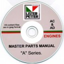LISTER PETTER AC, AD MASTER PARTS MANUAL ON CD