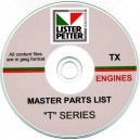 LISTER PETTER 'TX' ENGINES MASTER PARTS LIST ON CD