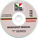 LISTER PETTER 'TS',  'TR',  'TX' ENGINE WORKSHOP MANUALS ON CD