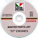 LISTER PETTER ST1, ST2 & ST3 ENGINES MASTER PARTS LIST ON CD