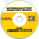 CLAAS COMMANDOR 116 CS/115 CS, 114 CS/112 CS OPERATOR'S MANUAL ON CD