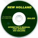 NEW HOLLAND - SPERRY 850 BALER OPERATOR'S MANUAL ON CD
