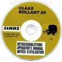 CLAAS ROLLANT 85 OPERATORS MANUAL ON CD