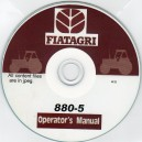 FIAT 880-5 OPERATORS MANUAL ON CD