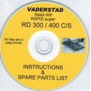 VADERSTAD SEED DRILL RAPID SUPER RD300-400 C/S INSTRUCTION MANUAL & SPARE PARTS LIST ON CD