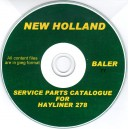 NEW HOLLAND HAYLINER 278 SERVICE PARTS CATALOGUE ON CD