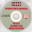 CASE 788 + & 788 COMPACT + WHEELED EXCAVATORS OPERATOR'S MANUAL ON CD