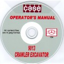 CASE 9013 CRAWLER EXCAVATOR OPERATOR'S MANUAL ON CD