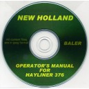 NEW HOLLAND-SPERRY HAYLINER 376 OPERATOR'S MANUAL ON CD
