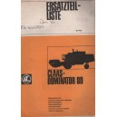 ORIGINAL CLAAS DOMINATOR 80 PARTS CATALOGE (MULTI LINGUAL)