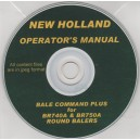 NEW HOLLAND BALE COMMAND PLUS FOR B7740A & BR750A ROUND BALERS OPERATING MANUAL ON CD