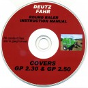 DEUTZ GP 2.30 & GP 2.50 OPERATOR'S MANUAL ON CD