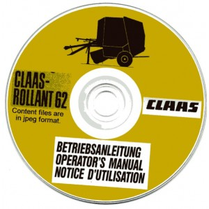 CLAAS ROLLANT 62 BALER OPERATORS MANUAL ON CD