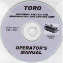 TORO GROOMING REEL KIT FOR GREENMASTER 3000 CUTTING UNIT OPERATING MANUAL ON CD