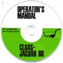 CLAAS JAGUAR 60 FORAGE HARVESTER OPERATOR MANUAL ON CD