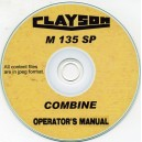 CLAYSON M135 SP COMBINE OPERATING INSTRUCTIONS ON CD