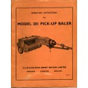 ORIGINAL ALLIS CHALMERS 201 OPERATING MANUAL*