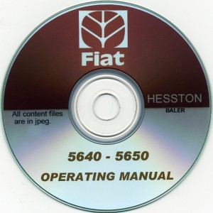 FIAT - HESSTON 5640 - 5650 BALER OPERATING MANUAL ON CD