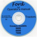 FORD 5600, 6600, 7600 OPERATORS MANUAL ON CD+
