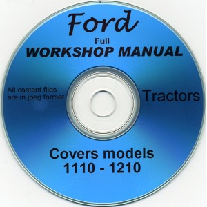FORD 1110 & 1210 WORKSHOP MANUAL ON CD