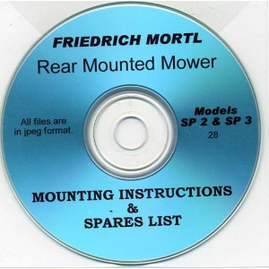 FRIEDRICH MORTL SP-2 & 3 MOWER MOUNTING INSTRUCTION & SPARES ON CD