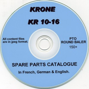 KRONE KR 10-16 BALER SPARE PARTS CATALOGUE ON CD