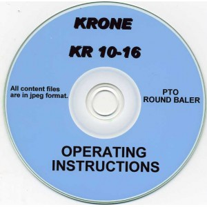 KRONE KR 10-16 BALER OPERATING INSTRUCTIONS ON CD