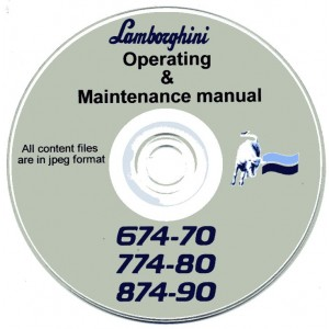 LAMBORGHINI 674-70, 774-80 & 874-90 TRACTOR OPERATING & MAINTENANCE MANUAL ON CD